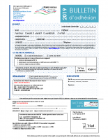 2019 AMR28 Bulletin d'adhésion